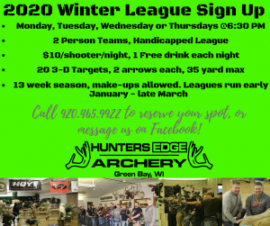 2020 Winter League Sign Up